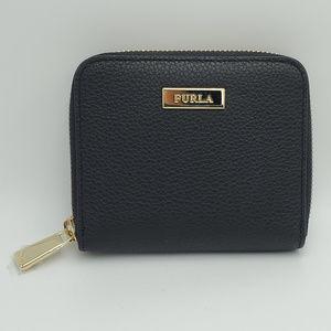 Furla Black Leather Ritzy Zip Around Wallet